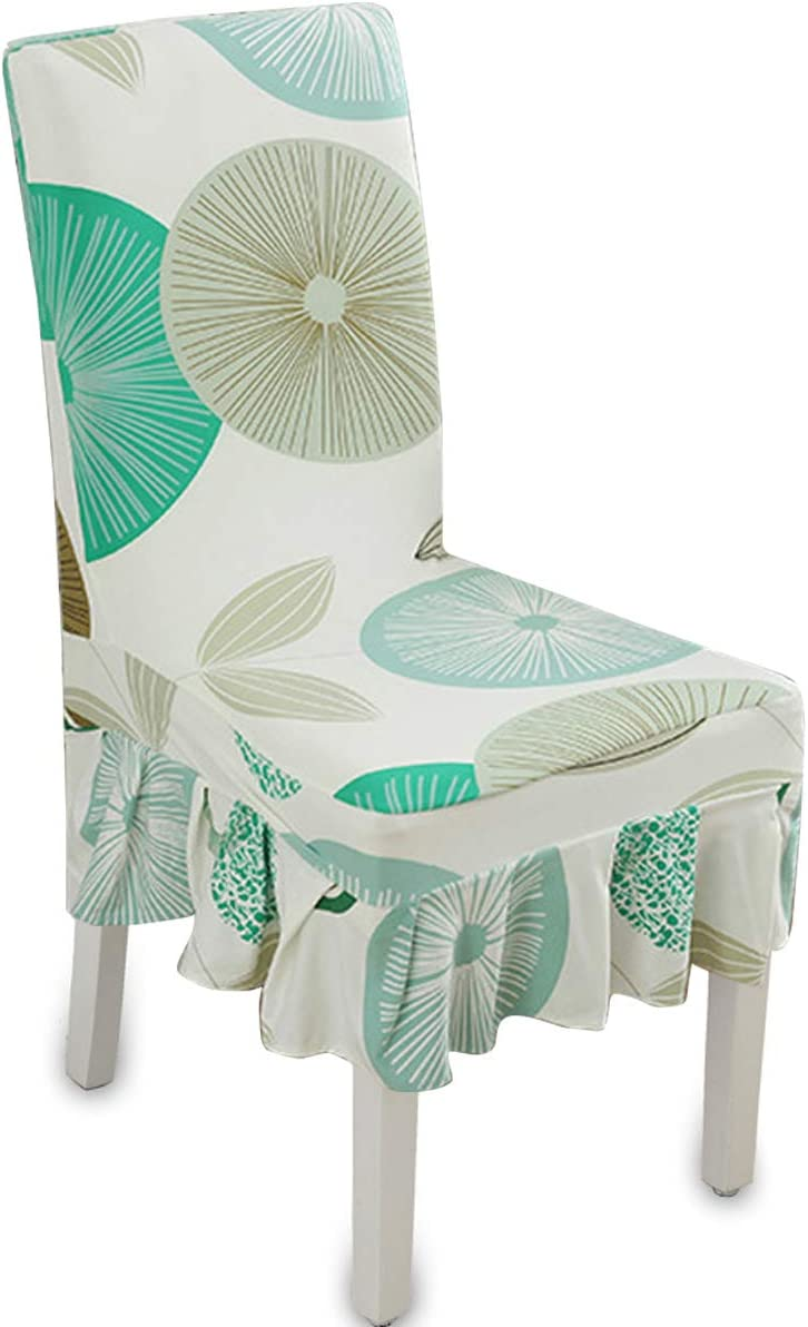 Diamond Mocaa Printed Pattern Furniture Slipcover For Dining Room Chair Long Skirt Covers M010