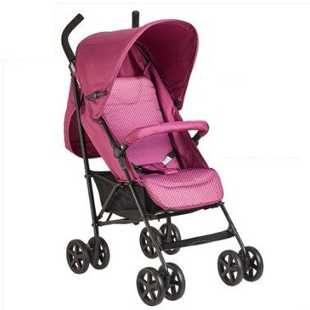 HAIZHEN マウンテンバイク ベビートベビーカー軽量折りたたみシットバック子供用ベビーカー 新生児 B07C6R916W Pink 1 Pink 1