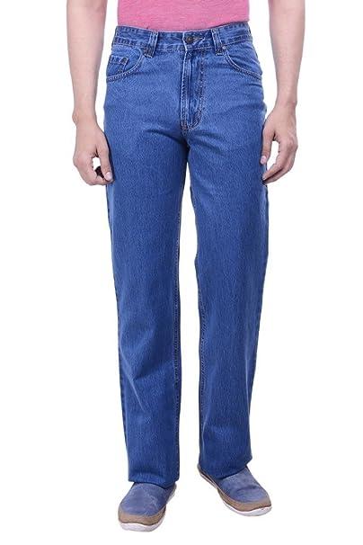Hoffmen Relaxed Fit Men S Semi Bleach Silky Jeans Amazon In
