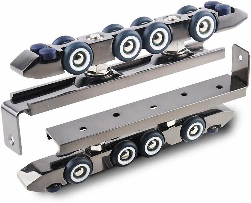 Muada 8 ruedas sin marco deslizante polea rodillos de perchas para puertas de armario de puertas correderas rodillo con bajo nivel de ruido rodillos de repuesto 2pcs en Gunmetal: Amazon.es: Bricolaje y