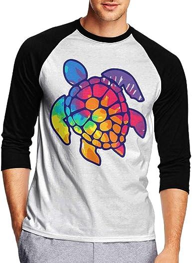 Turtle Kids Jersey Raglan T-Shirt Children 3//4 Sleeve Baseball Shirt Top