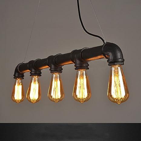steampunk lighting. WINSOON INDUSTRIAL STEAMPUNK LAMP IRON PIPE CEILING ISLAND FIXTURE PENDANT  LIGHT VINTAGE Retro (Black) Steampunk Lighting