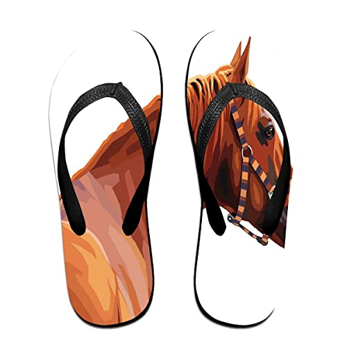 7b83a63f32f9d Amazon.com | Funny Summer Flip Flop, Race Jokey Horse Pure Noble ...