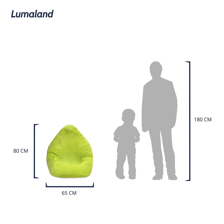 Lumaland Pouf Coussin XL Plus de Luxe Ligne Confort 220Lcouture Solide Orange