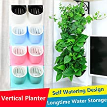 Creative Self-watering Hanging Flowerpot,Living Wall Vertical Planter,Wall-mounted Plants Holder w/ Longtime Water Storage & Multi-Color Design