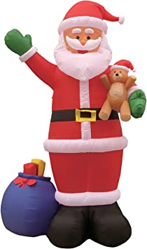Amazon.com: 12 foot hinchable de Papá Noel de Navidad con ...