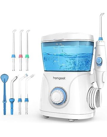 Homgeek Irrigador Bucal, Irrigador Dental Profesional con 7 Boquillas Multifuncionales 10 Ajustes de Presión 600ml