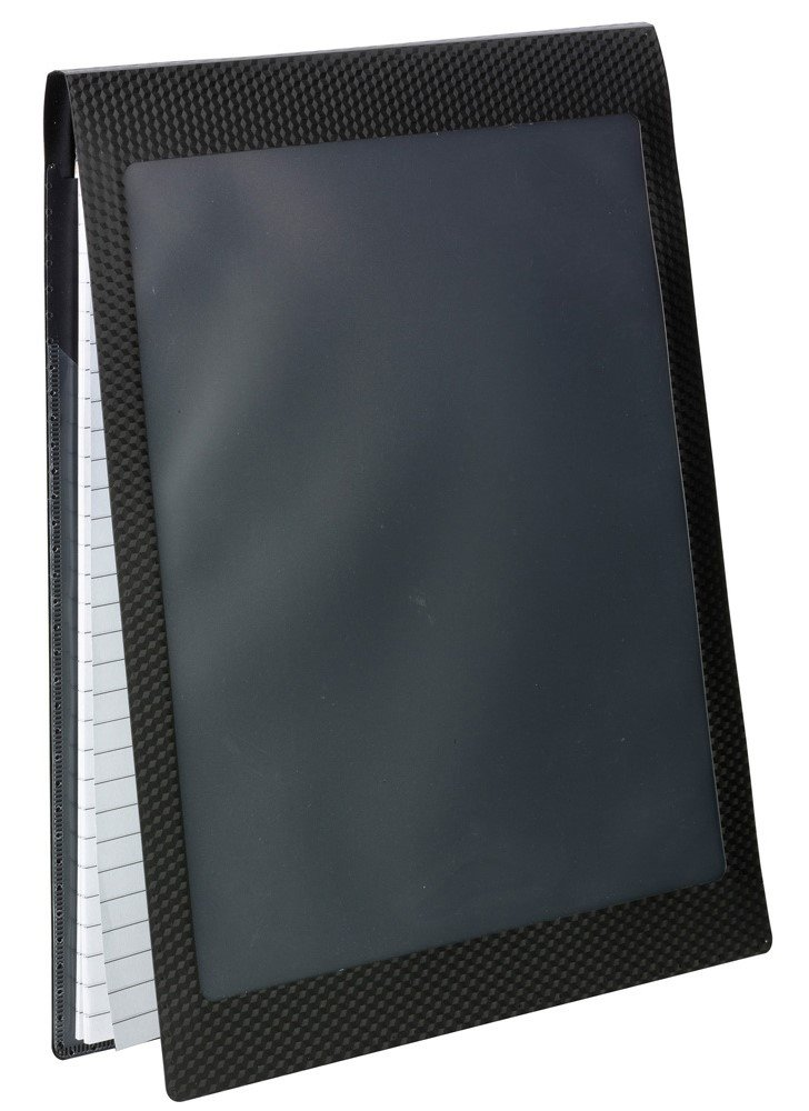 Smead Organized Up Note Mate Pad Folio, Clear Poly Front, Black, 2 per Pack (85815)