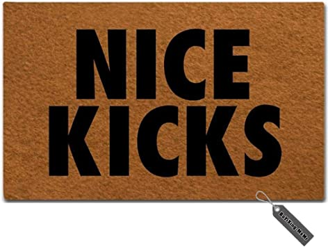 Nice Kicks Super Absorbent Anti-Slip Mat Indoor//Outdoor Decor Rug Doormat 23.6x15.7 Inch Home Decor