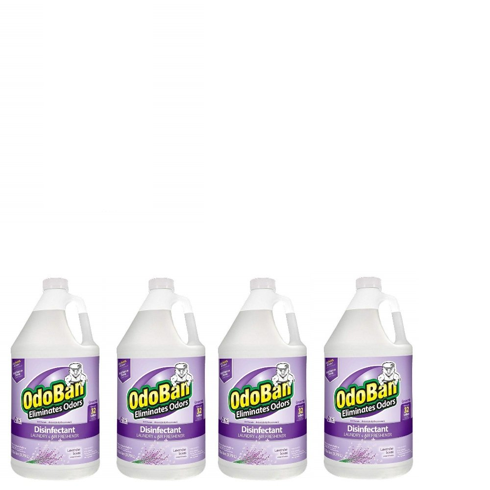 OdoBan Concentrate Disinfectant Laundry and Air Freshener, Lavender Scent, 4 Gallons