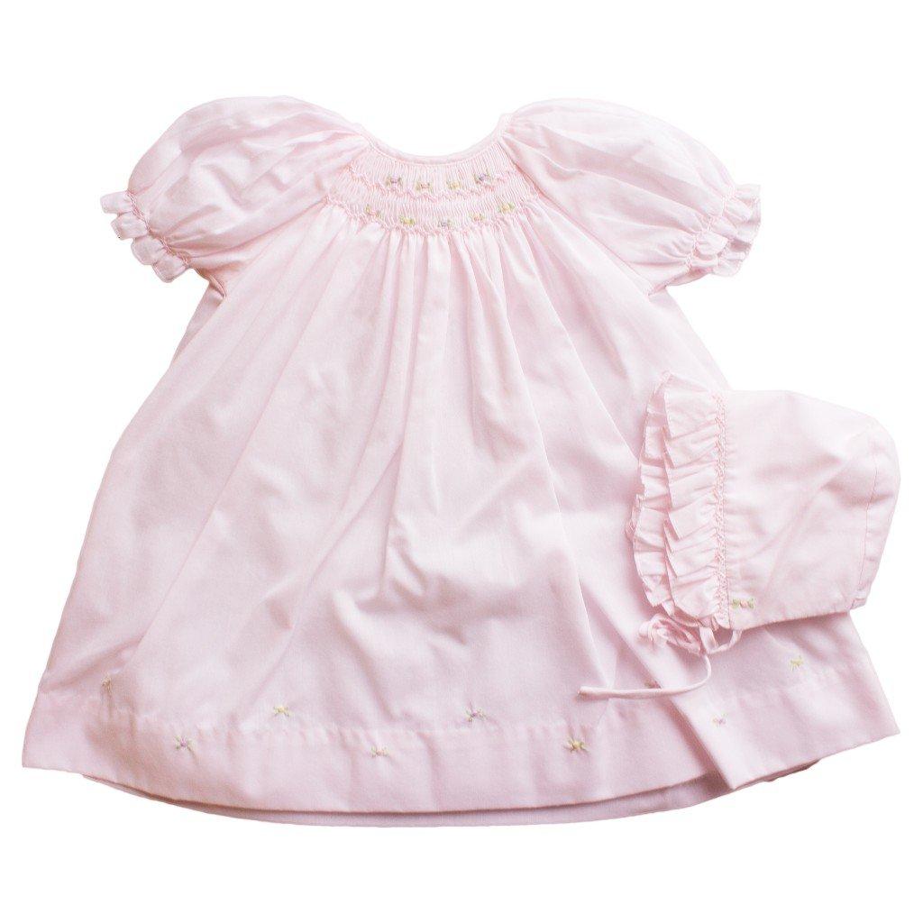 Petit Ami DRESS ベビーガールズ Newborn ピンク B0742KS65Z