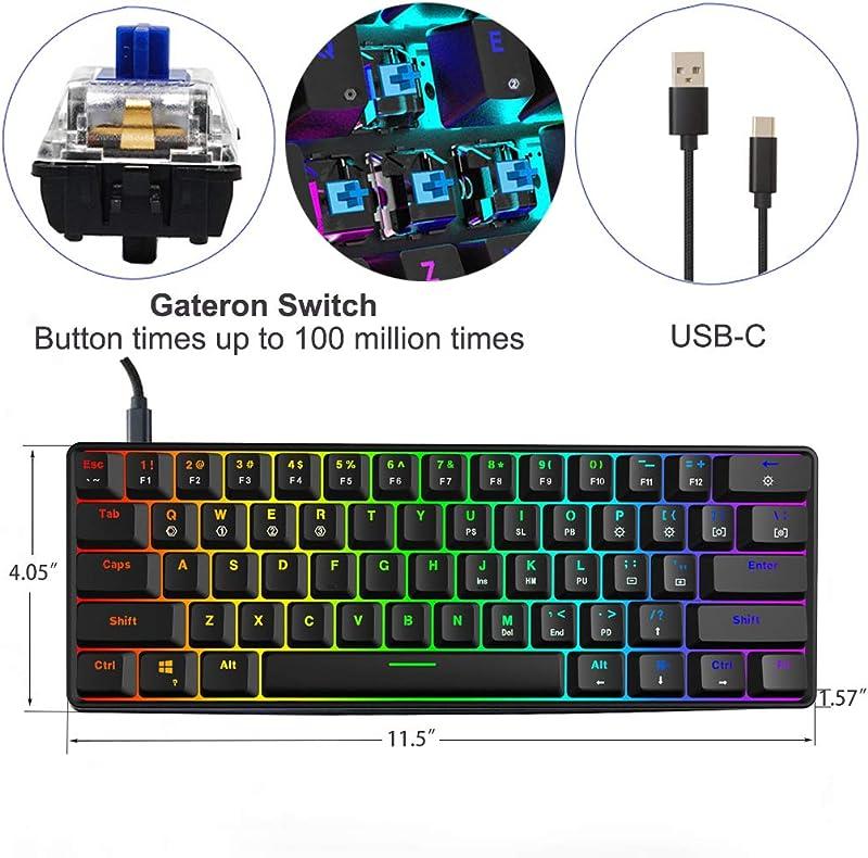 SKYLOONG SK61 GK61 60% Mechanical Keyboard,Full Keys Programmable