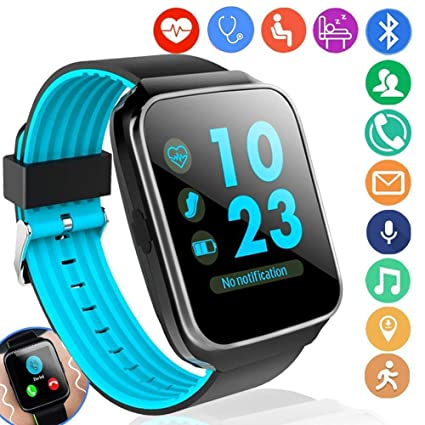 Fitness Tracker with Heart Rate Blood Pressure Monitor Smart Watch GPS Activity Tracker for Men Prime Gift Women Summer Sport Smartwatch Calories ...
