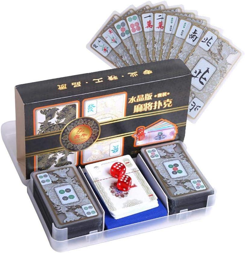 El más nuevo juego de póquer Crystal Mahjong, juego de mesa portátil de viaje ligero impermeable pequeño Mahjong para amantes y principiantes de Mahjong: Amazon.es: Hogar