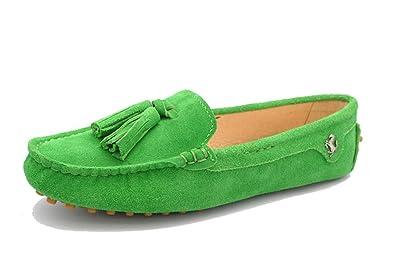 Minitoo , Damen Durchgängies Plateau Sandalen mit Keilabsatz , Grün - grün - Größe: 35.5