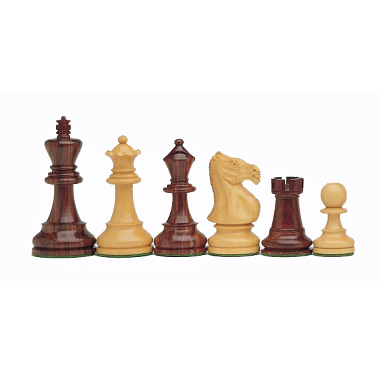 WE Games English Staunton Chessmen - Weighted & Handpolished Rosewood with 3.75 in. King by Wood Expressions