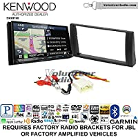 Volunteer Audio Kenwood DNX874S Double Din Radio Install Kit with GPS Navigation Apple CarPlay Android Auto Fits 2002-2006 Toyota Camry with Amplified System