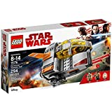 Make a quick escape with Finn and Rose in the Resistance Transport Pod. This detailed LEGO Star Wars version of the craft from Star Wars: Episode VIII features a 2-minifigure cockpit with removable canopy and detachable panels that reveal a rear stor...