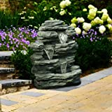 Go Yard Cascade Rock Outdoor Fountain