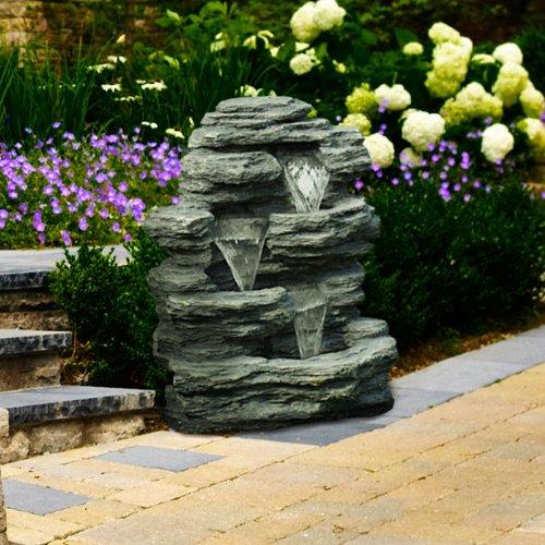Go Yard Cascade Rock Outdoor Fountain (Fountain Sculpture)