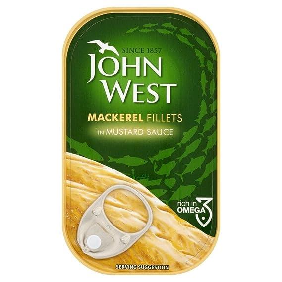 John West Filetes De Caballa En Salsa De Mostaza (125g) (Paquete de 6