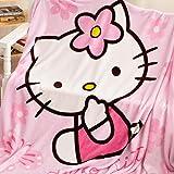 OKlife Throw Blanket Fleece Cartoon Hello Kitty