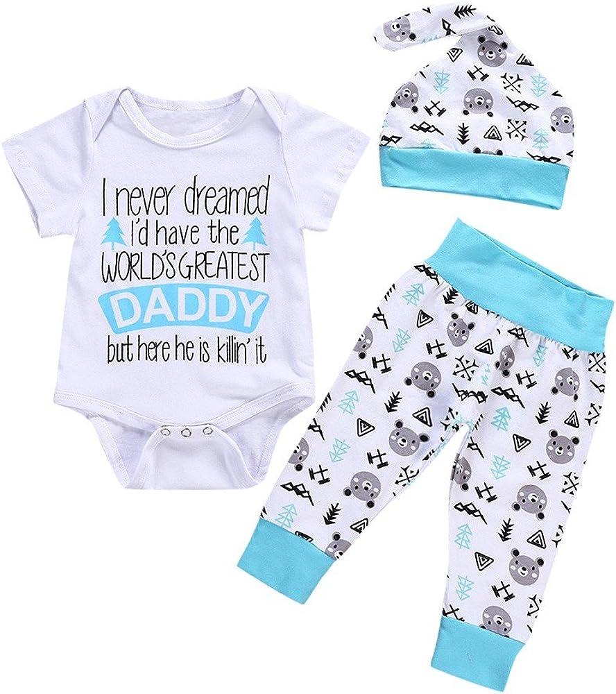 Lurryly Newborn Baby Boys Romper Jumpsuit Clothes Bodysuit Playsuit Pajamas Outfit 1-4T
