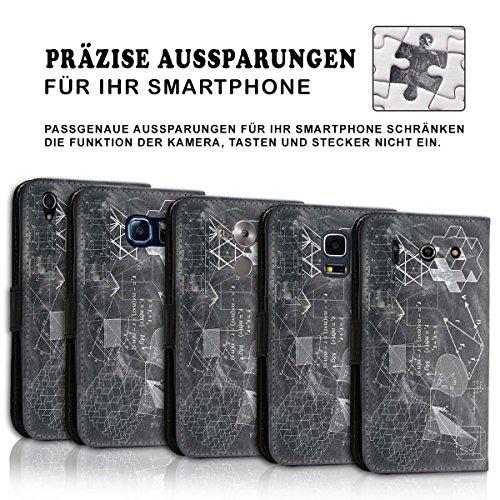 Wallet Book Style Flip Handy Tasche Case Schutz Hülle Schale Motiv Etui für Apple iPhone 4 / 4S - Design Flip MV77