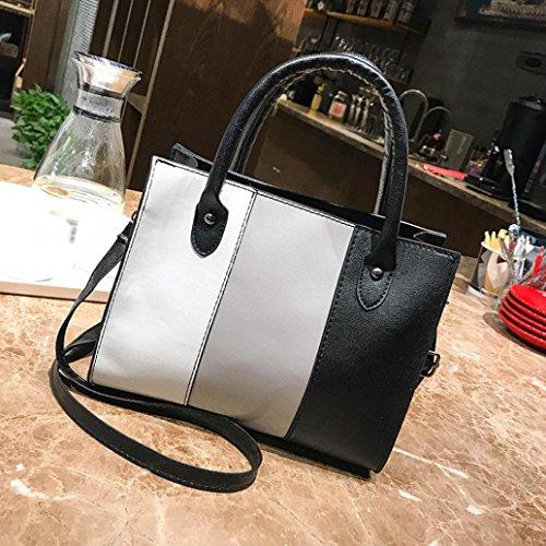 Color huichang Gray Satchel Handbag Tote Crossbody Leather Messenger Women Blocking Bag Girl for Shoulder dOnxwqrO