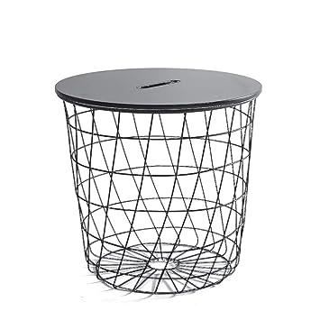 Hongsezhuozi Tables Table Basse Table Nordic En Fer Forge Noir Metal
