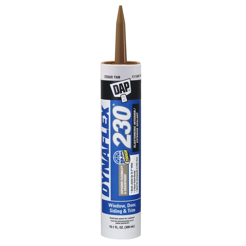 DAP 18412 DYNAFLEX 230 Cedar Tan Raw Building Material, 10.1 oz