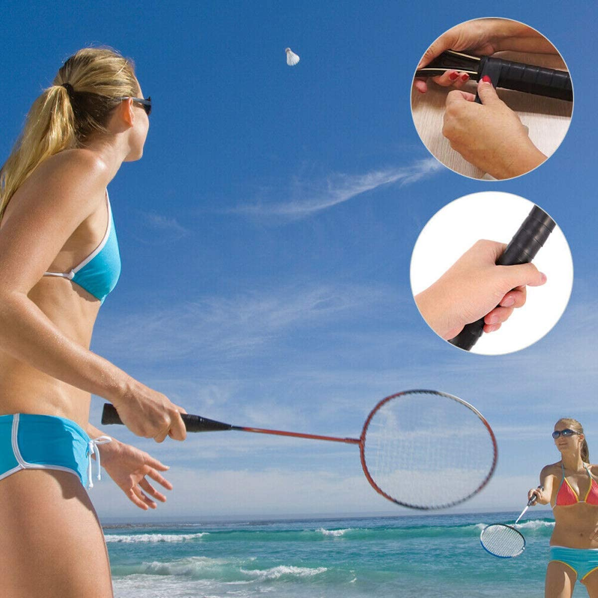 Hechengdianzi Overgrips Racket Grip Absorb Sweat Stretchy Pickleball Badminton Tennis Squash Protector Racquet Grips