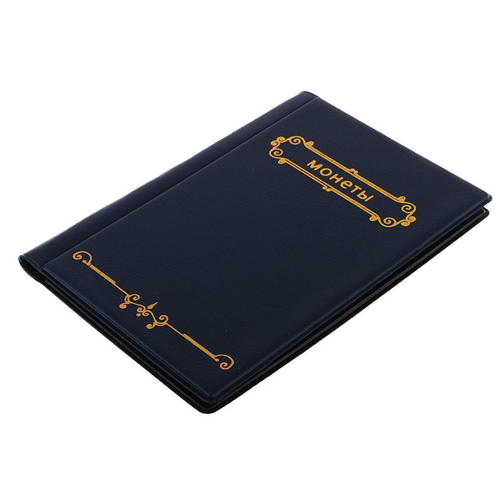 Nero Monete Album di Stoccaggio Penny Raccolta Supporto Libro Raccoglitore per Collezione di Monete Valuta Album Storage 120 Tasche 10 Pagine