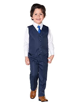 Shiny Penny Boys Blue Formal Suit Set Neck Tie, 3 Months - 7 Years
