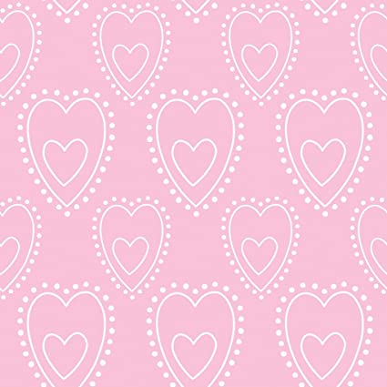 c6832a25 Disney PRINCESS SORBET LOVE CHILDREN'S WHITE ON PINK HEART MOTIF WALLPAPER  PALE PINK DF71499: Amazon.co.uk: Kitchen & Home