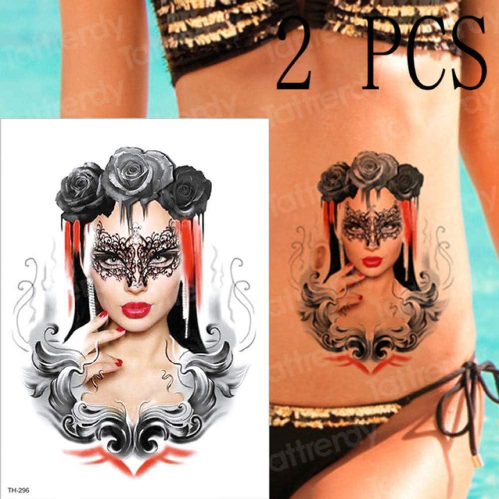 adgkitb 3 Piezas Tatuaje Temporal Geisha Samurai japonés Tatuajes ...