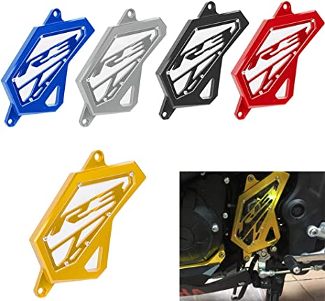Aramox Motorcycle Rear Sets Gold Aluminium Alloy Rider Rear Set Foot Rest Pegs for Yamaha YZF R3 R25 2014-2016