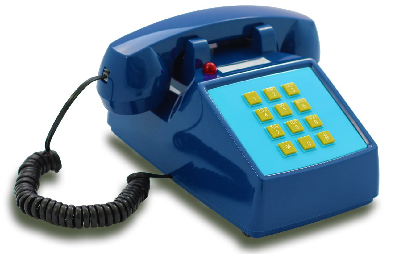 OPIS FunkyFon cable: Rotary dial disc telephone in the sinuous style of the 1920s with modern electronic bell (orange) Opis Technology GmbH Tffcab
