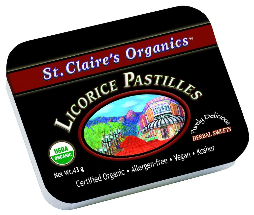 Amazon.com: St. Claires Organics Licorice Pastilles, lata ...