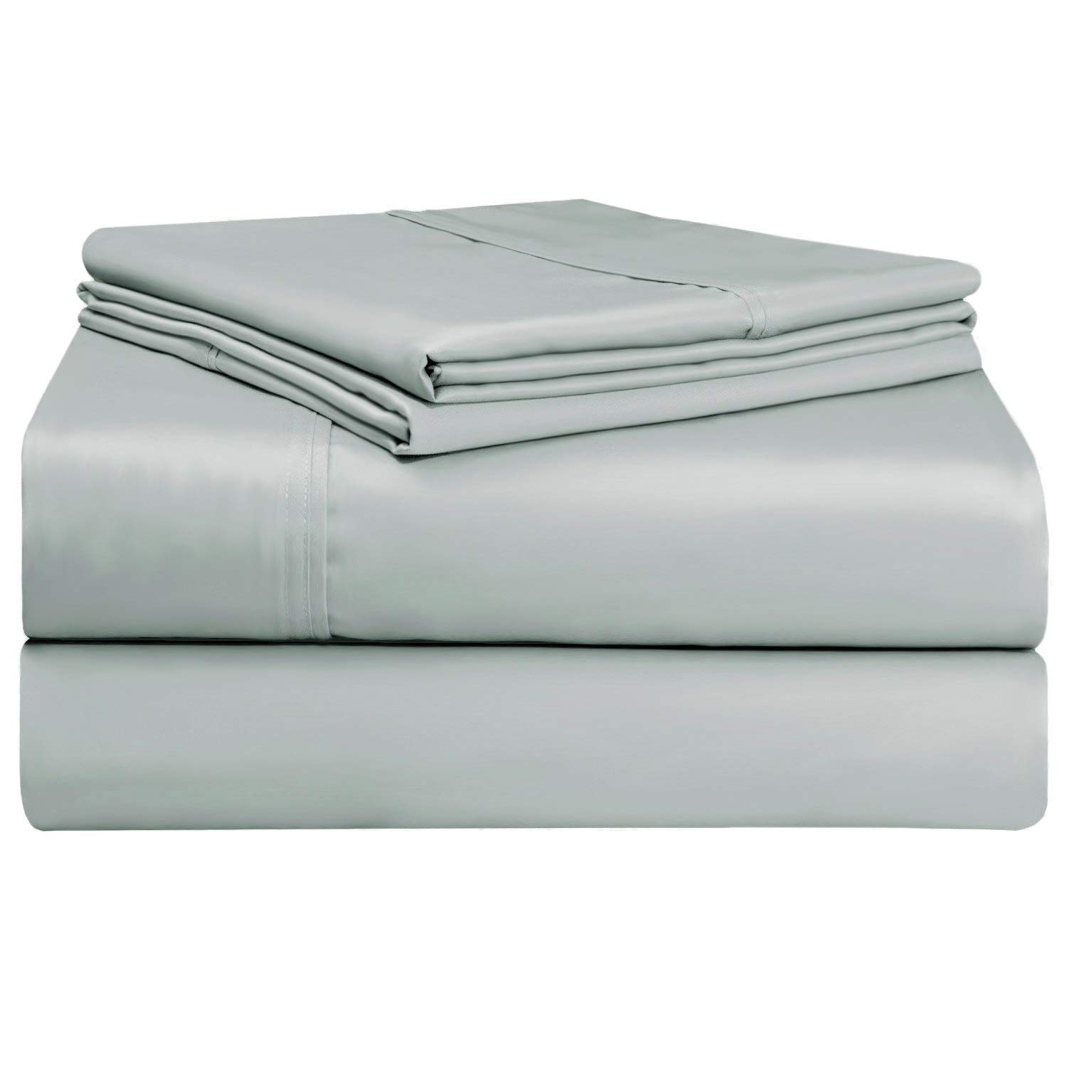 400 Thread Count Pillowcases King White, 100% Long Staple Cotton Pillow Cases King 2 Pack, Luxurious Soft Sateen Weave Pillow Covers (100% Cotton Pillow Cases White King 2 PC) Pizuna
