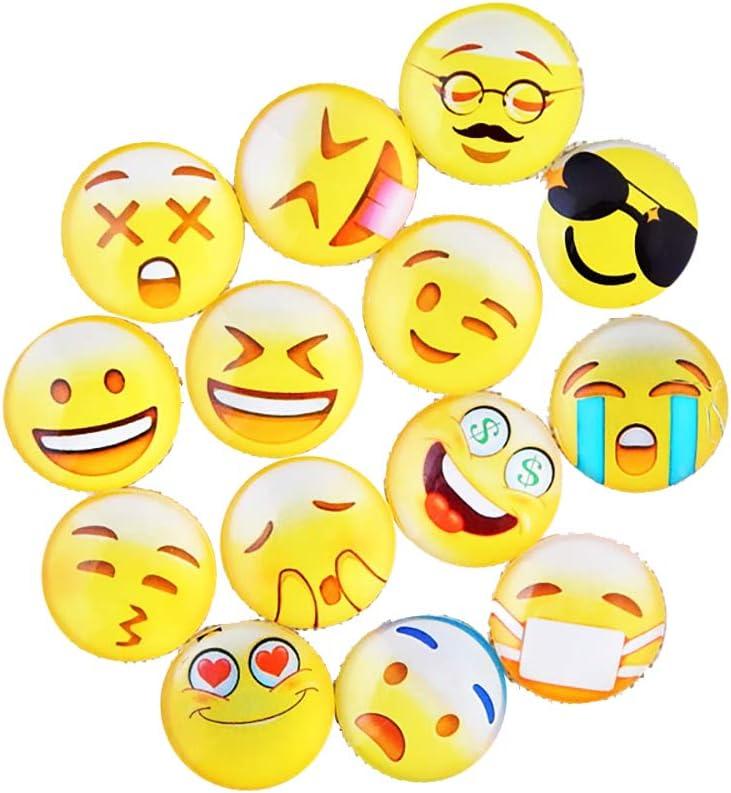 Lovglisten Emoji 12pcs Mix Random 20MM Print Glass Style Snap Jewelry Charms Many Styles of Buttons Emoji-New