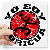 "CafePress - Yo Soy Boricua Black-Red Square Sticker 3"" x 3"" - Square Bumper Sticker Car Decal, 3""x3"" (Small) or 5""x5"" (Large)"