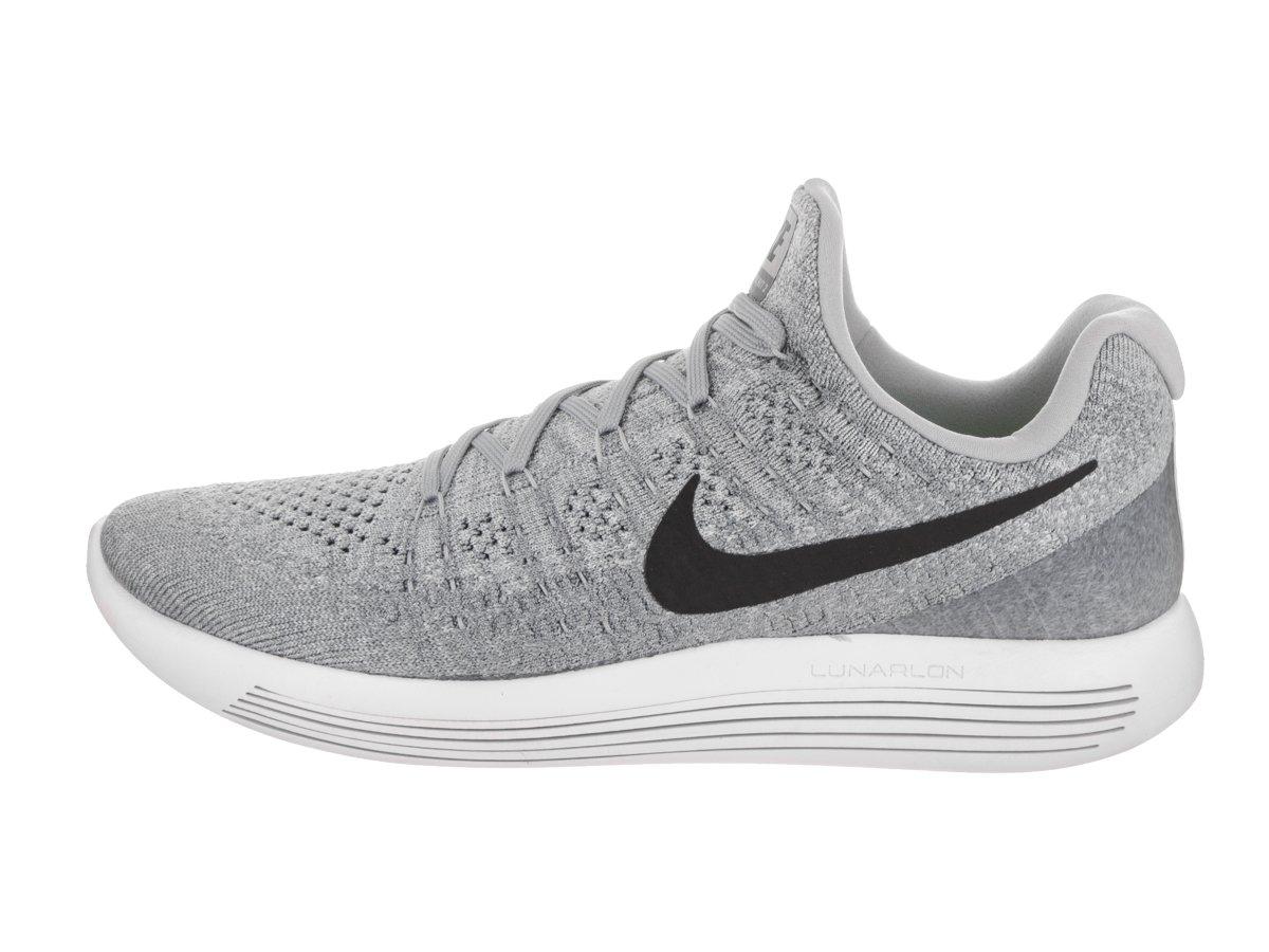 Nike Men's Lunarepic Low Flyknit 2 Wolf Grey/Black/Cool Grey Running Shoe 10.5 Men US by NIKE (Image #3)