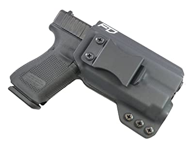 Fierce Defender IWB Kydex Holster Glock 19 23 32 w/APLc The Winter Warrior Series -Made in USA- (Black)