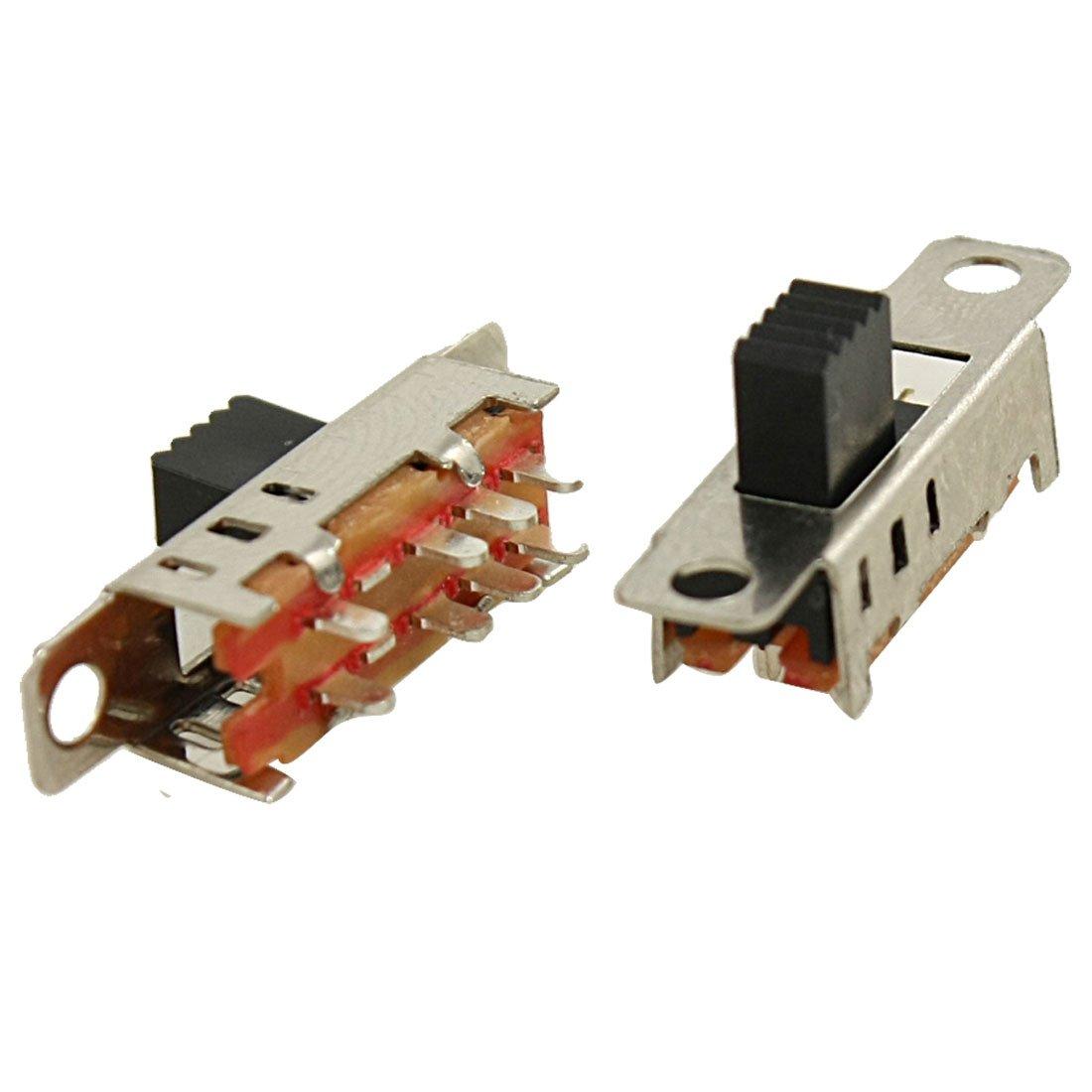 5 Pcs 8 Pin Pcb 3 Position On Dp3t 2p3t Panel Mini 4 Way Slide Switch Wiring Diagram Ss23e04 G5 Home Improvement