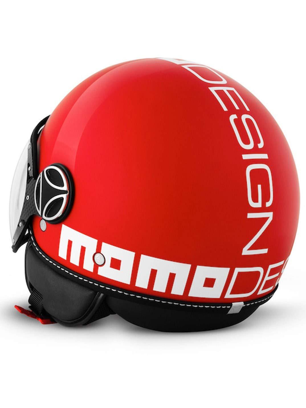 MOMO Design Casco Demi Jet Fighter Classic color blanco brillante//negro talla M