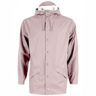 196b7a9b25d04 New RAINS of Denmark Short Waterproof Rain Jacket in Rose: Amazon.co.uk:  Clothing