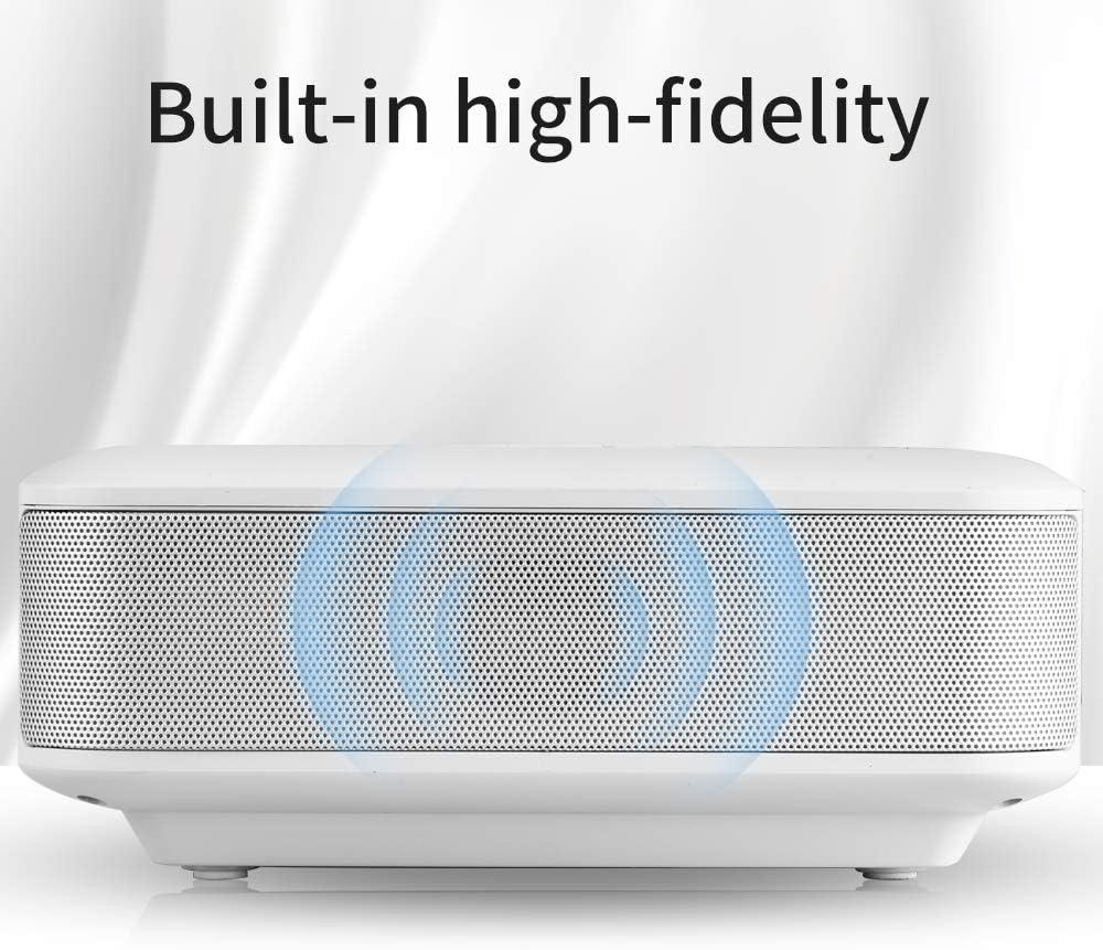 Mini projecteur Lecteur de Jeux Home cin/éma USB Prechen projecteur portatif /à LED WiFi sans Fil M/ême /écran cin/éma Maison avec USB // TF // Haut-Parleur int/égr/é Compatible avec Smartphone Tablette