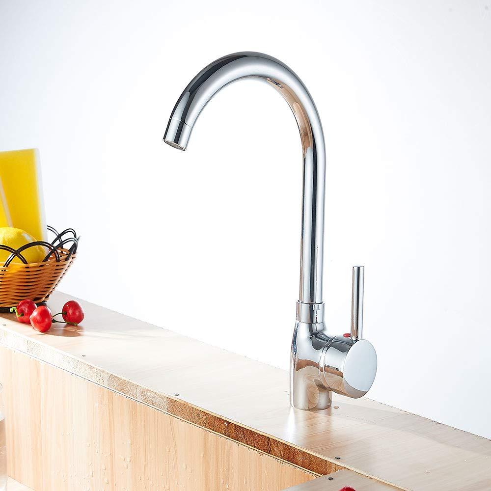 Kitchen Sink Tap 360 Grad Kalt- Kalt- Kalt- Und Warmwasser Mischbatterie Mit Bubbler High Arc Einhebel Bleifrei Soild Messing Bar Wasserhahn Geeignet Für Handel High Rise School Wasserhahn e3df69