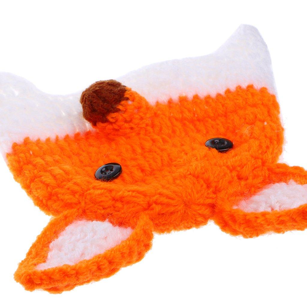 disfraz de zorro de ganchillo Sombrero y pantalones para beb/é reci/én nacidos con accesorios para fotograf/ía